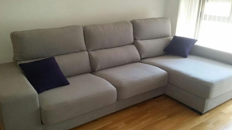 Como tapizar un sofa cheslong good sofa y cheslong floribl tapizado blanco roto with como - Tapizar un sofa de piel ...