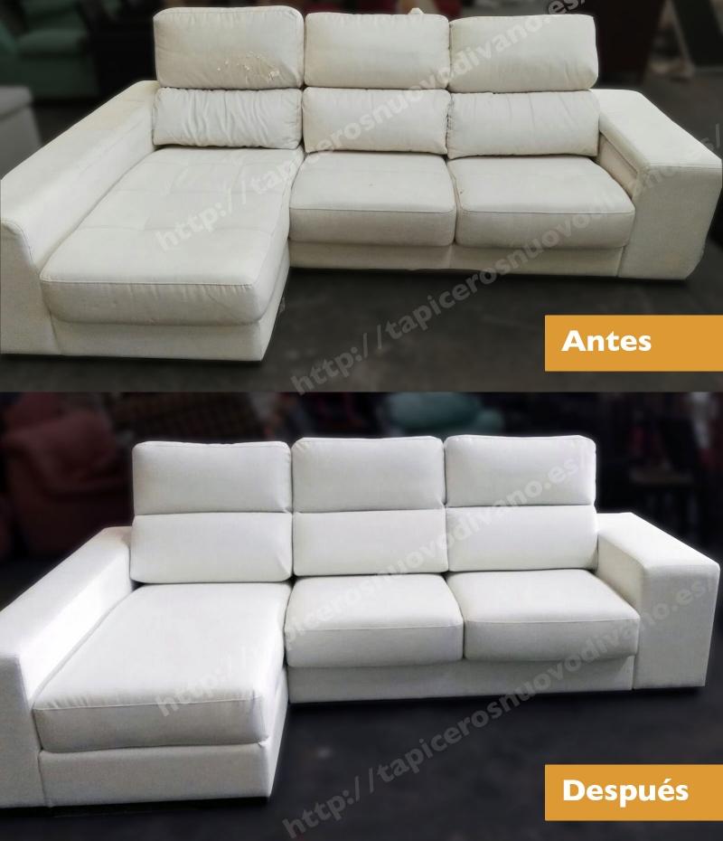Como tapizar un sofa de piel en la foto sof chaise longue - Tapizar sofas en casa ...